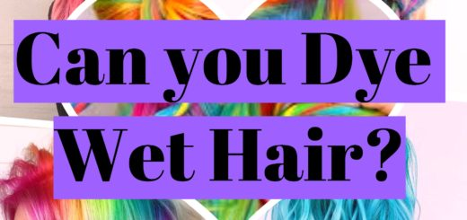 Can you dye wet hair?